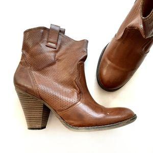MIA Brown Mid Calf Heeled Dyana Boots